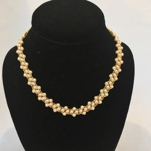 Napier Pearl Necklace with Gold Accents